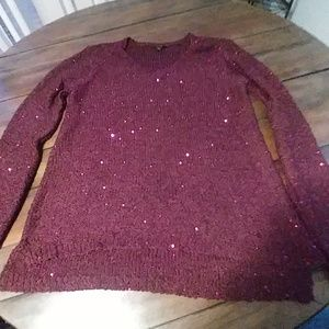 Apt. 9 plum purple sweater Sz XL